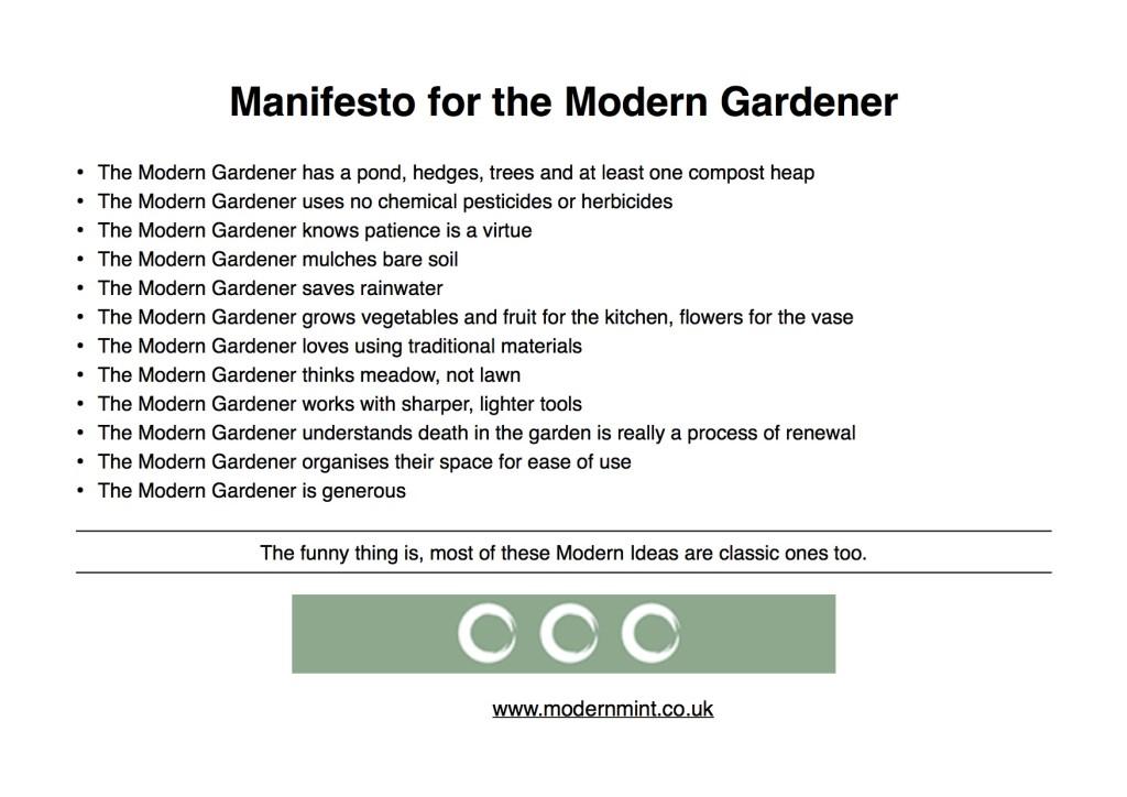 Manifesto for the Modern Gardener