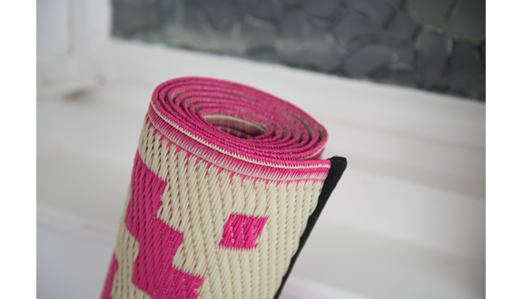 Outdoor Plastic Rug   Nirvana Pink And Grey