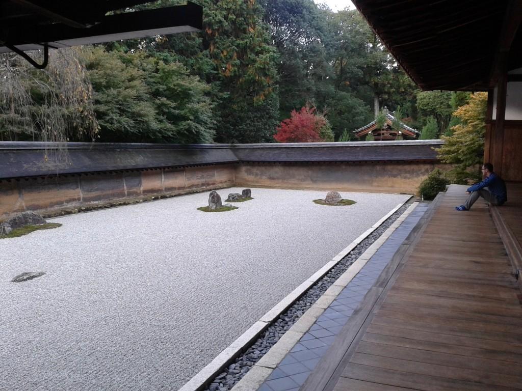 Modern Mint director Darren Lerigo at Ryoan-ji, Kyoto