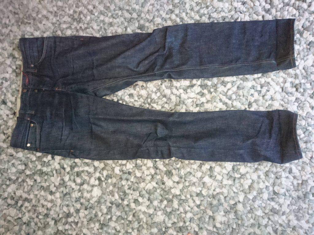 Hiut Denim jeans before washing